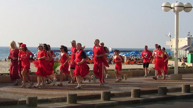 Holyland Hash House Harriers Red Dress Run