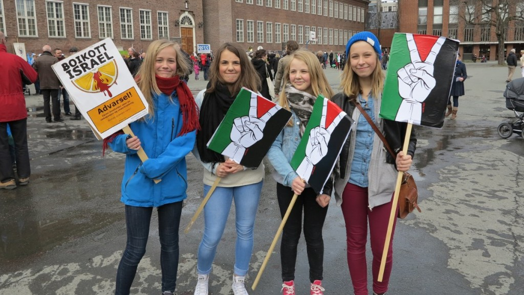 At the 2013 May Day rally in Trondheim (photo supplied by author)