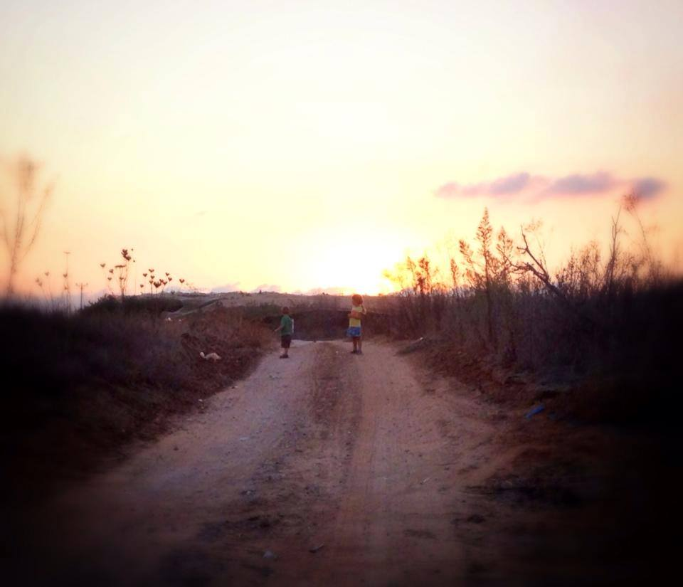 Sunset on the moshav.