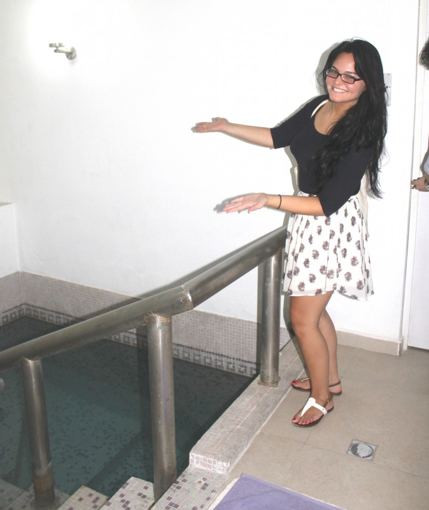 Just checking out the mikveh in Monterrey Mexico (Photo: Tracy Frydberg)