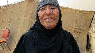 An elderly refugee in Mafraq. (photo credit: Debra Kamin)