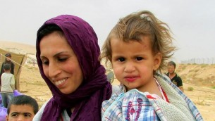 A Syrian mother and child in Mafraq. (photo credit: Debra Kamin)