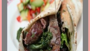 Chef Ceaser's Barbecue Beef Wrap