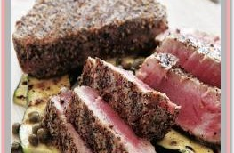 Grilled Tuna Steaks with Pepper