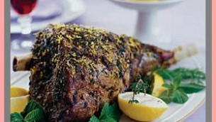 Leg Of Lamb With Lemon Sauce