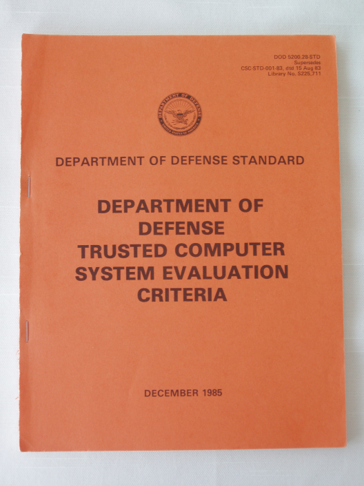 DoD's Trusted Computer System Evaluation Criteria