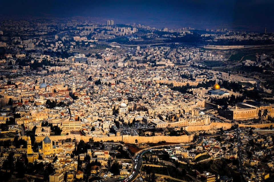 A magnificent aerial view of the Old City. Photo by David Katz