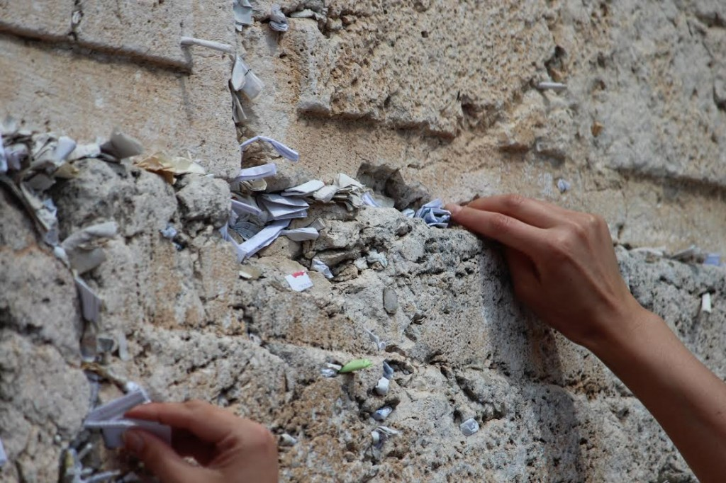 Prayers in the Western Wall. Nechama Perton