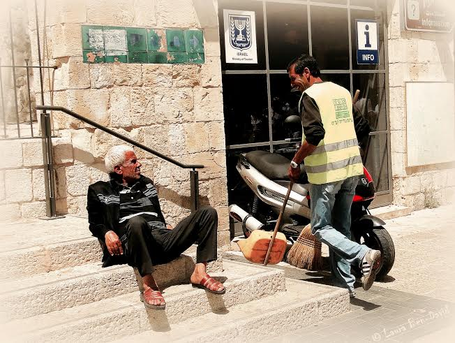 A candid moment captured near Jaffa Gate. Photo by Laura Ben-David