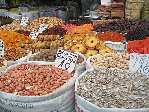 Fragrant spices in the Old City. Photo by Sally Weber