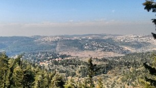 The hills from Yad Vashem