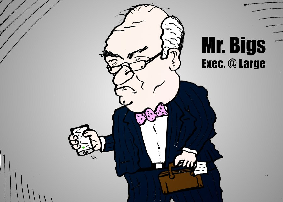 Mr. Bigs Executive at Large business cartoon