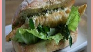 Fried Sole with Asparagus on Baguette