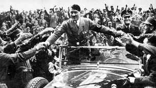 Adulation: Germans welcoming Hitler