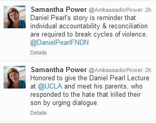 Ambassador Power's Tweets
