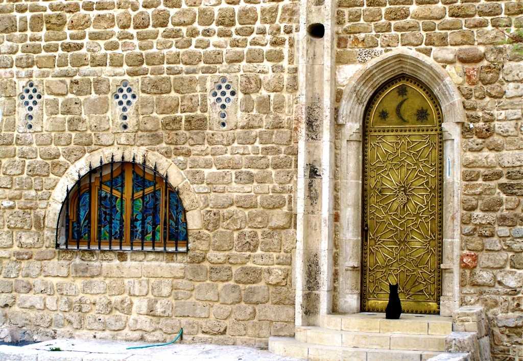 The black cat of Jaffa. Photo by Mary Grossm