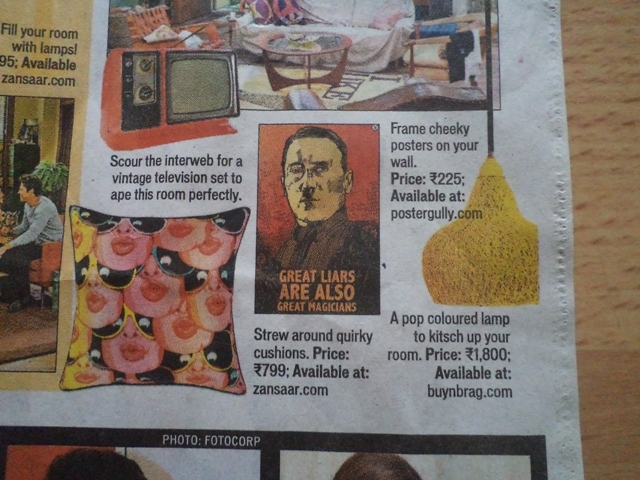 hitler cushion