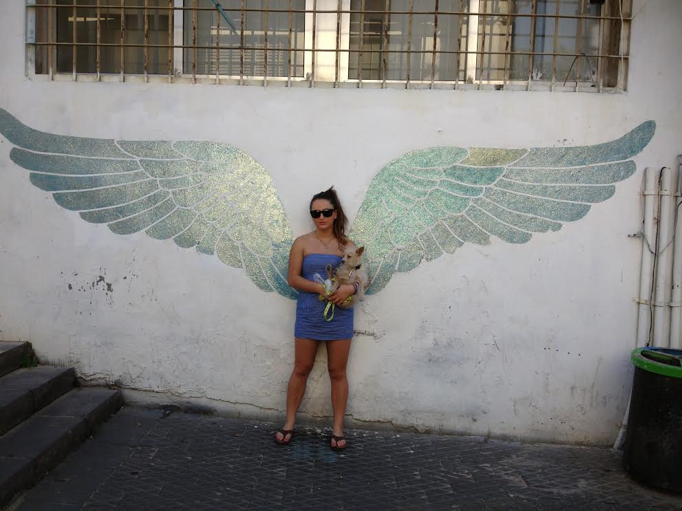 An angel in Jaffa. Submitted by Miriam Young.