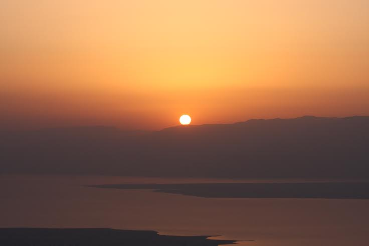 For the sunrise over Masada Photo by Victor Dewey