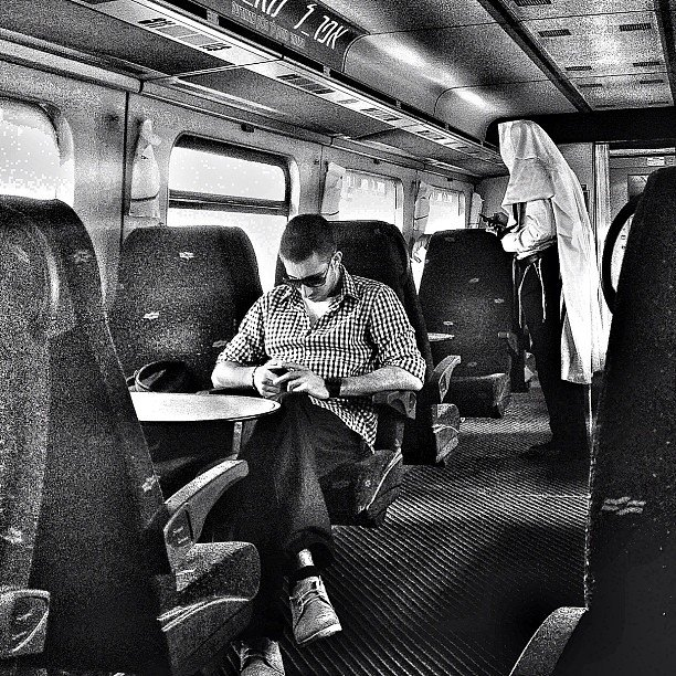 Riding on the train. Photo by Sarah Tuttle-Singer