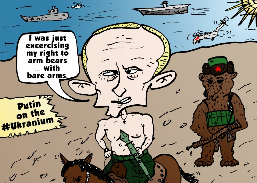 Vladimir Putin caricature about Ukraine from March 4, 2014