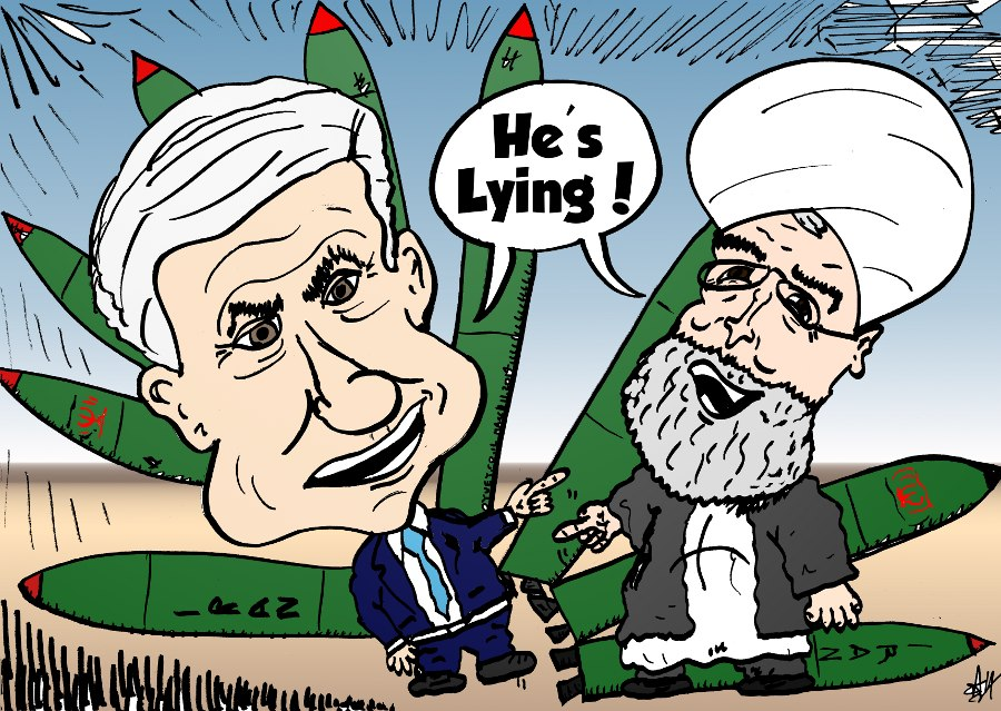 israel's bibi netanyahu and iran's rouhani accuse each other, march 11, 2014 via oyvey