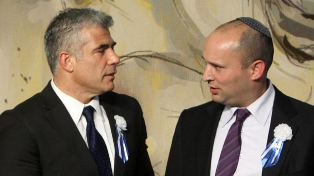 MK's Lapid and Bennett (Photo credit: Miriam Alster/Flash90)