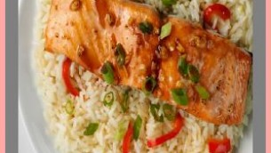 Gingered Salmon over Rice