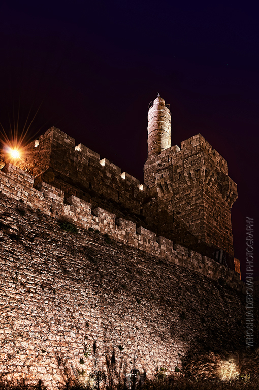 Tower of David at night... Photo by Yehoshua Derovan