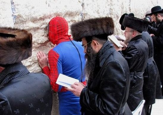 Security at the Western Wall is especially tight today. Photo by Noam Navaro