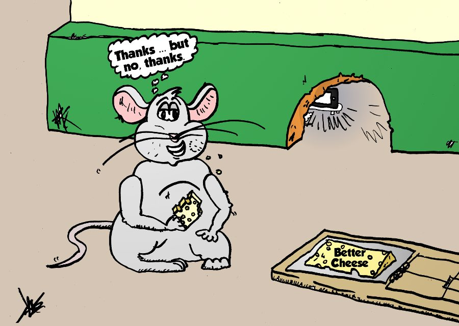 better cheese mouse trap caricature by laughzilla