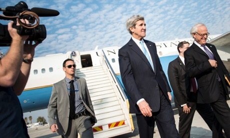 "Almighty John Kerry arrives to Israel to ""save"" the ""peace talks"" by tightening the noose on Israel's neck"