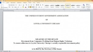 Loyola Divestment resolution.