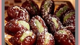 Dates Stuffed with Walnuts, Coconut, Raisins and Honey