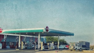 When the gas gauge is When you're  a quarter full gas stations become very beautiful indeed
