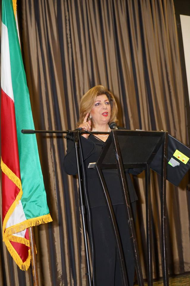 Shahla Zargarian Javdan, IAJF President delivers her comments-Photo Orly Halevy