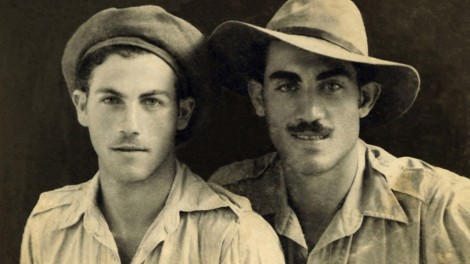 My grandfather Mendel (left) pictured with his brother Baruch, shortly after being reunited after the Holocaust in the late 1940s.