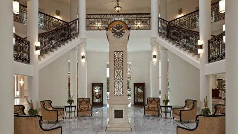 The Waldorf Astoria Jerusalem's grand entranceway
