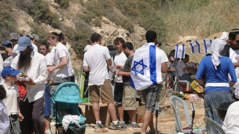Celebrating Yom Ha'Atzmaut in Israel. Photo credit: Laura Ben-David