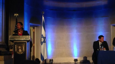 National Security Advisor Rice at Israeli Embassy Party - Photo: Brian of London