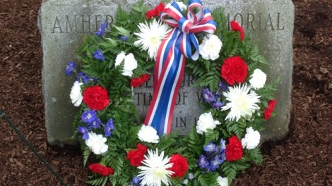 Memorial Day wreath, Amherst, Massachusetts, 2014