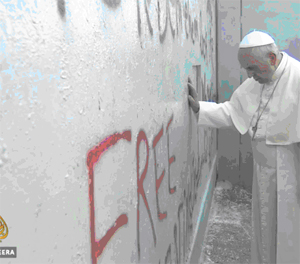 POPE AT WALL