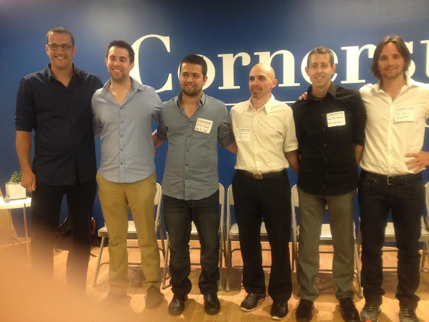 The group-from L-Roi Mozer and Asaf Nevo PICO, Assaf Guez APPTOEAT, Haggai Meltzer SALIENTEYE, Daniel Rockberger NSLcomm, Ziv Lautman BreezoMeter