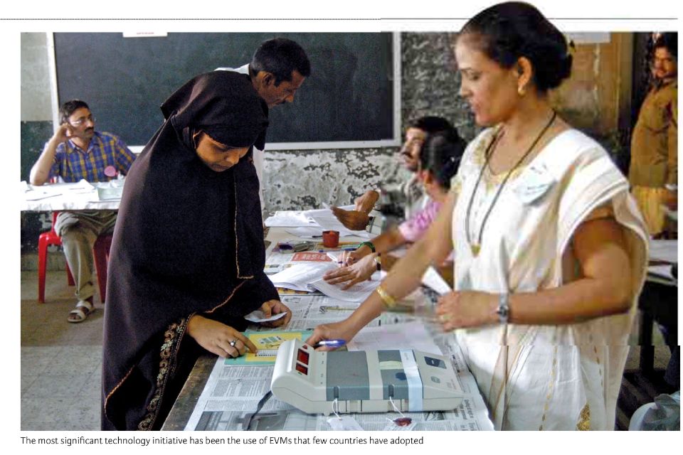 Paperless elections in India, 2014 (Photo: courtesy of the Indian Embassy in Israel)