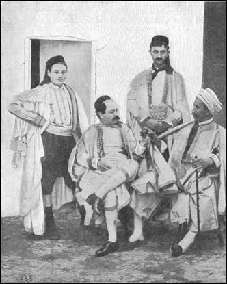 Group of Tunisian Jews 1900- This image is in the public domain because it was part of Jewish Encyclopedia (1901-1906). The copyrights for that book have expired and this image is in the public domain.