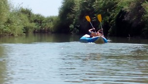 Kayaking on the Jordan River