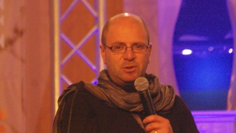 Sami Awad speaks at the Christ at the Checkpoint Conference in 2014.