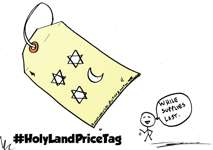 the price tag war editorial cartoon by laughzilla