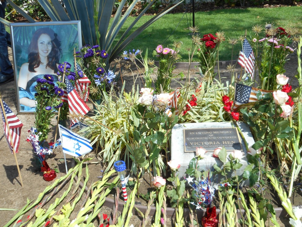 Vicki's memorial place at LAX, Los Angeles