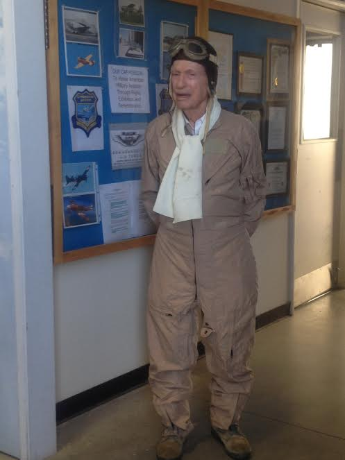 Mitch Flint in the Aviation Museum